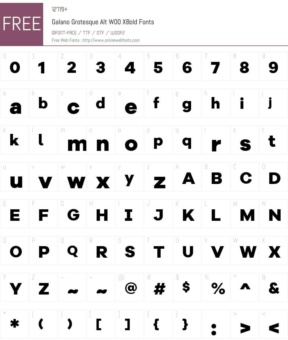 GalanoGrotesqueAltW00-XBold Font Screenshots