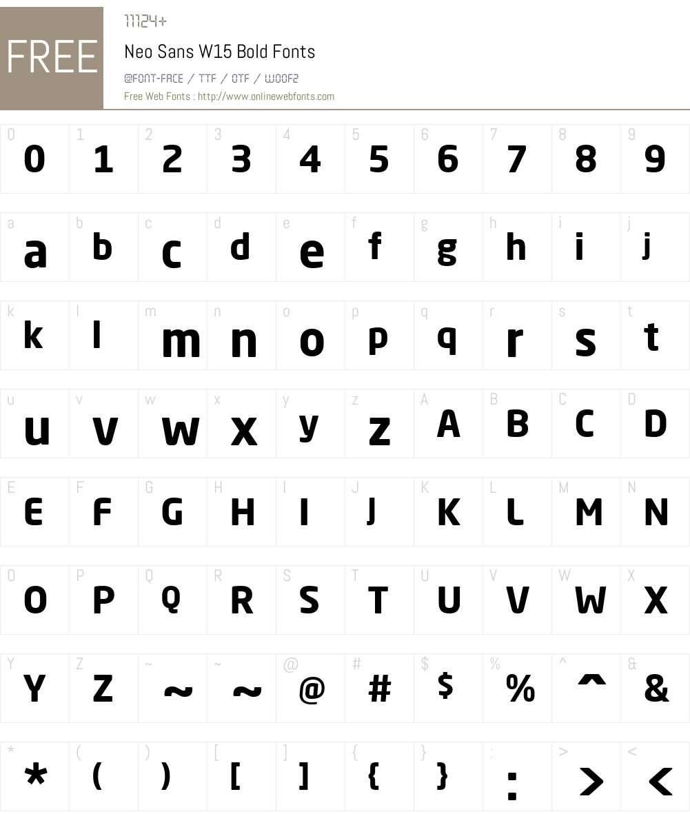 NeoSansW15-Bold Font Screenshots