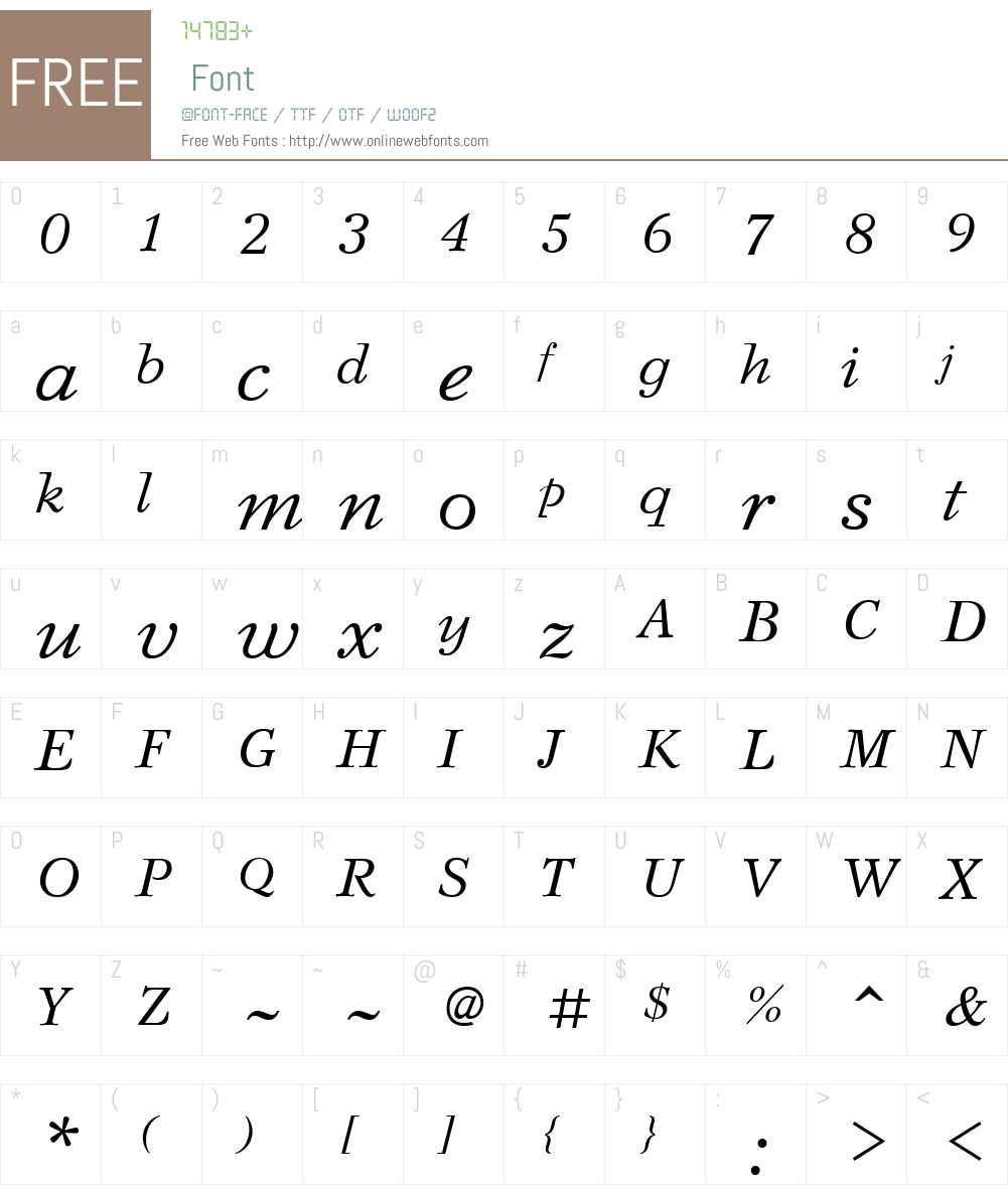 SvetlanaW01-Italic Font Screenshots