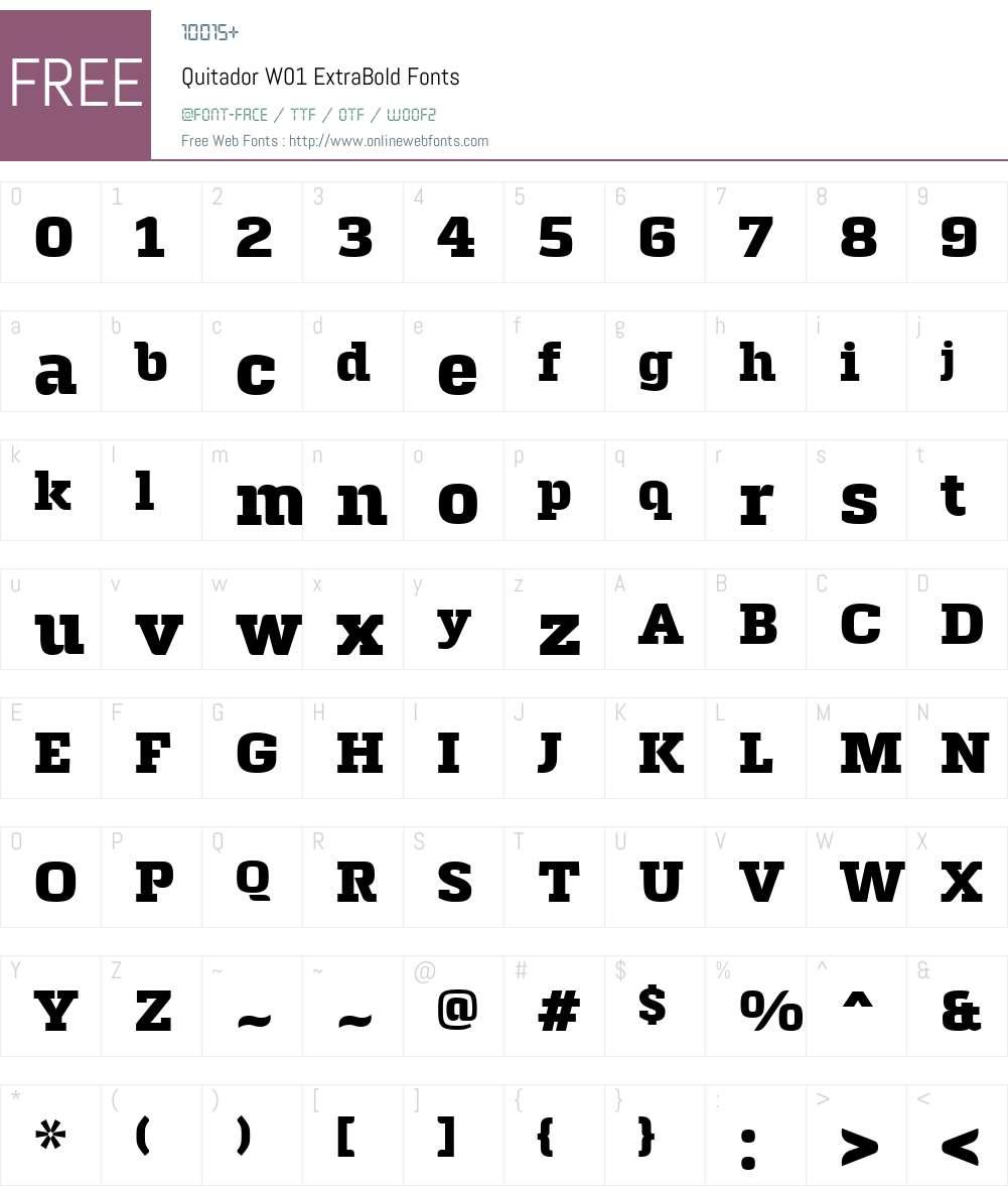QuitadorW01-ExtraBold Font Screenshots