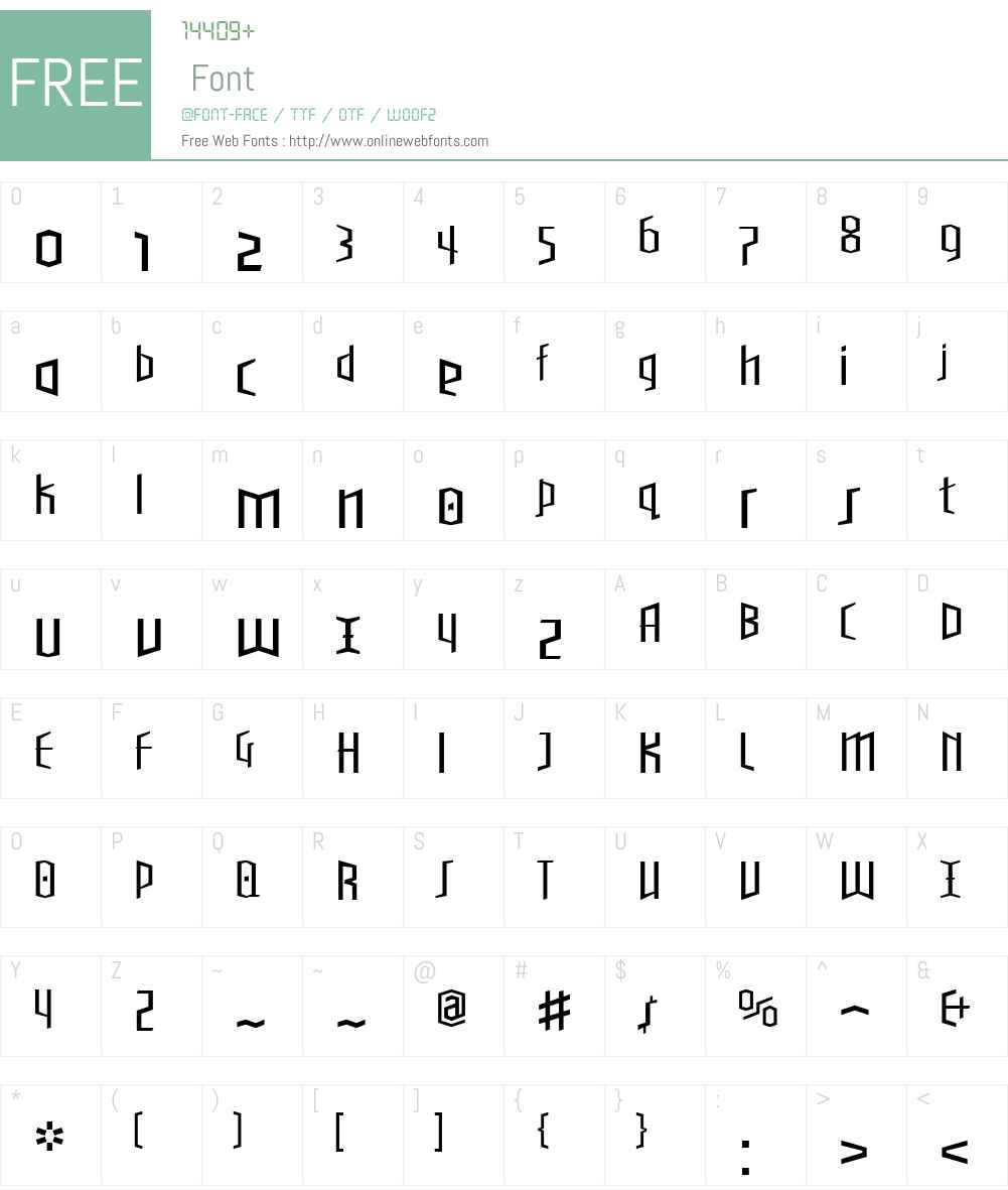 BlackletterSansW00-TwoLt Font Screenshots