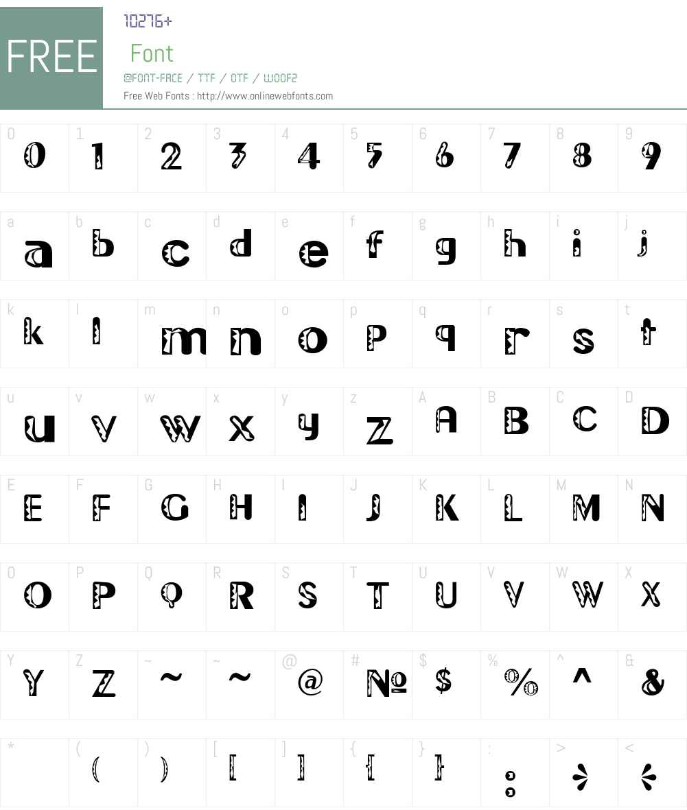 Gilgongo Doro Font Screenshots