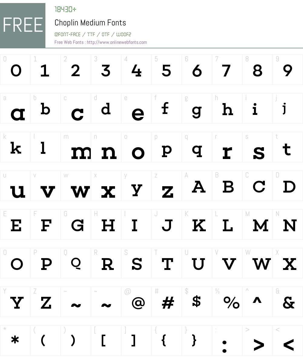 Choplin Medium Font Screenshots