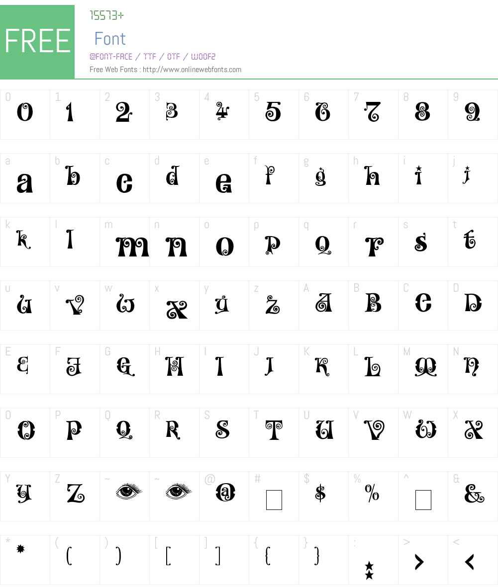 Kingthings Willowless Font Screenshots