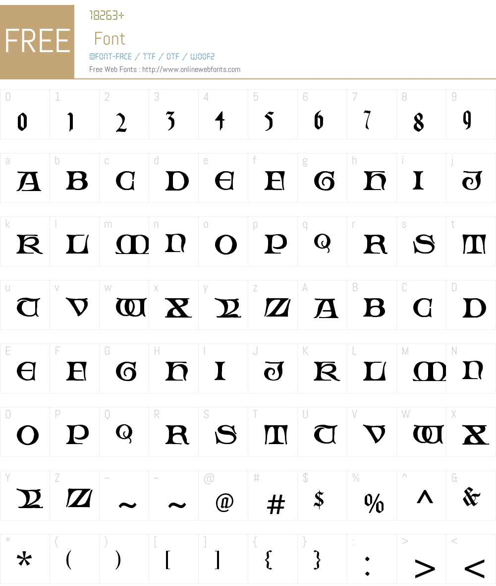 Fabliaux Font Screenshots