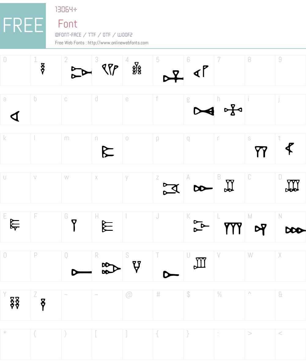 DH Ugaritic Font Screenshots