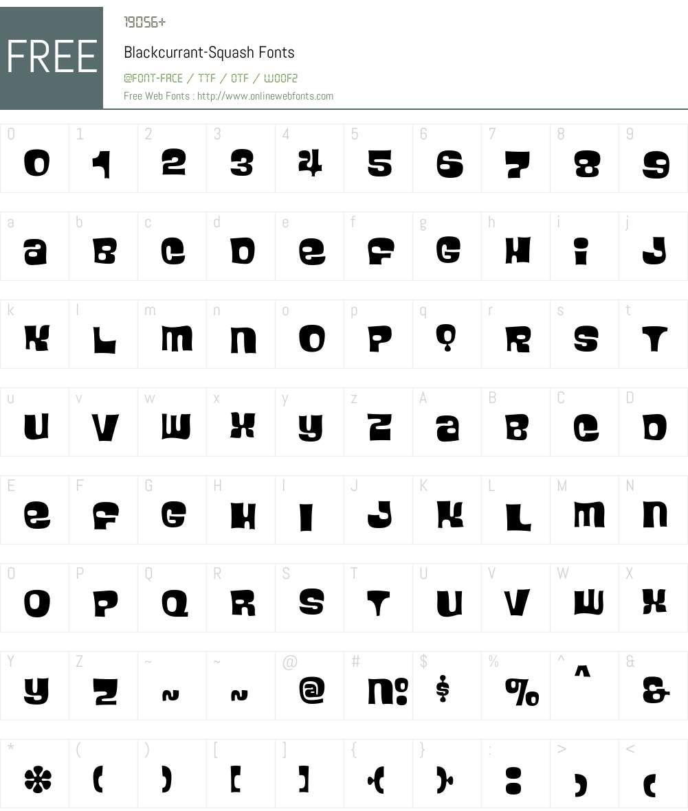Blackcurrant Font Screenshots
