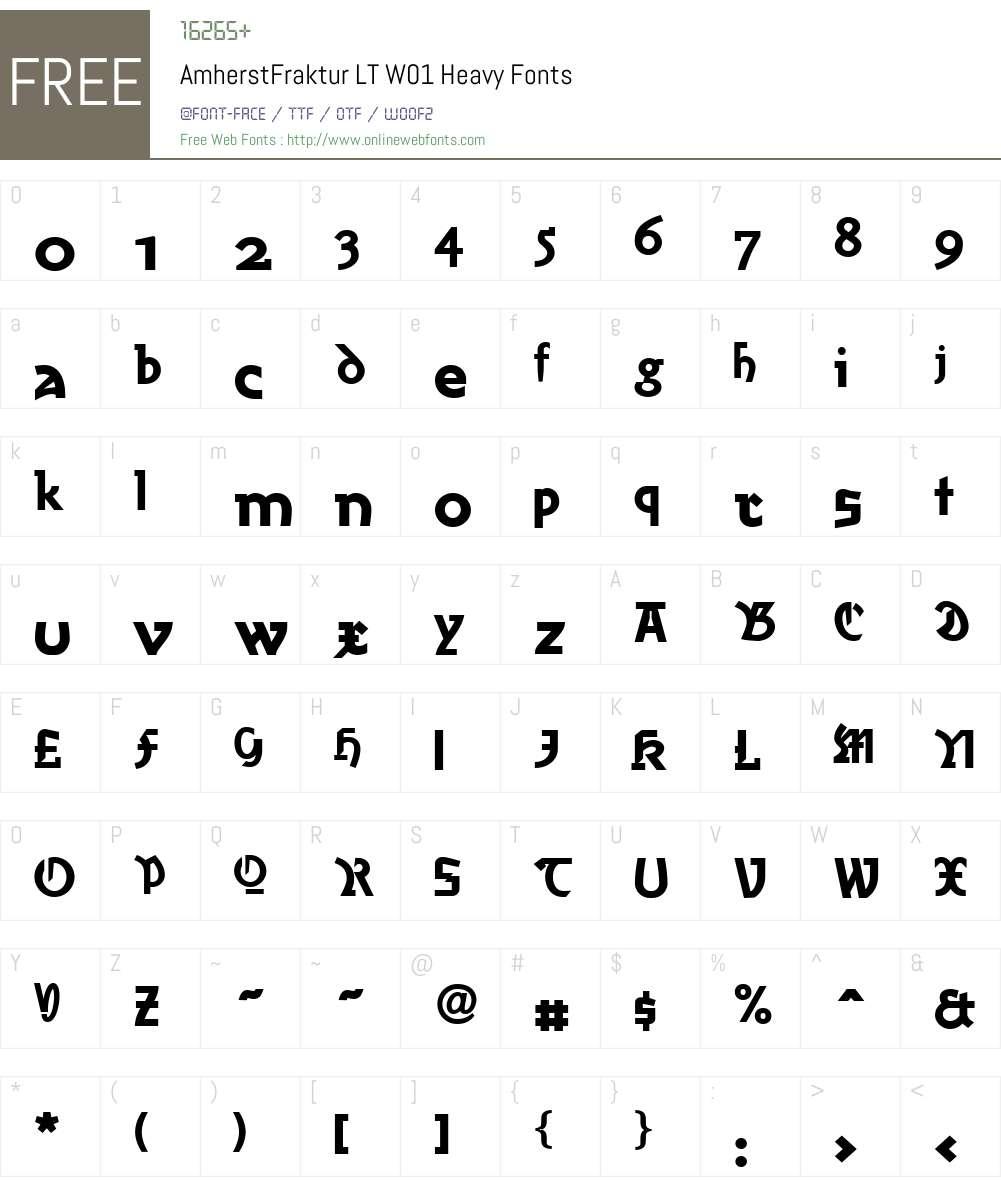 AmherstFrakturLTW01-Heavy Font Screenshots