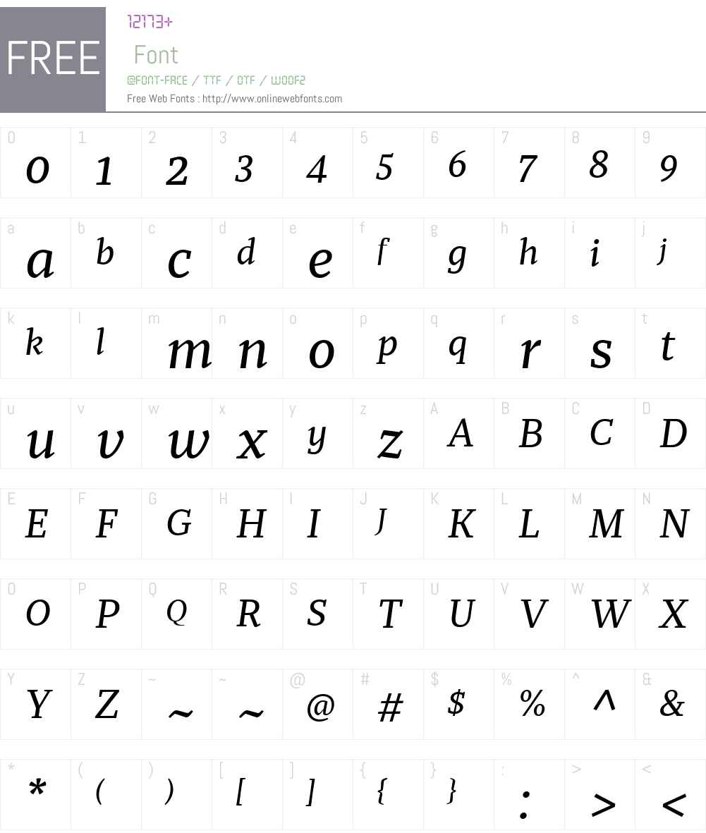Recia Font Screenshots