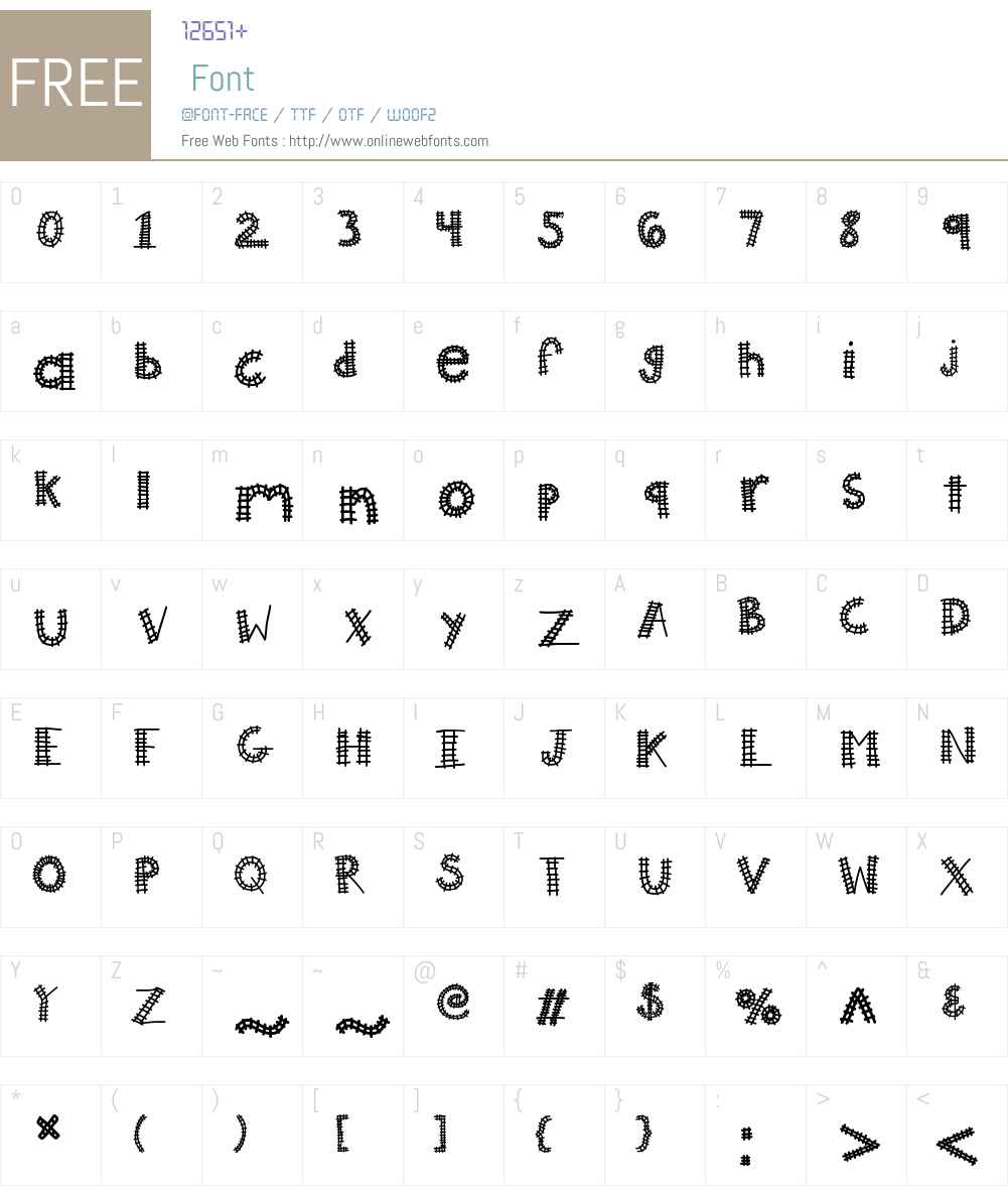 KBAllAboard Font Screenshots