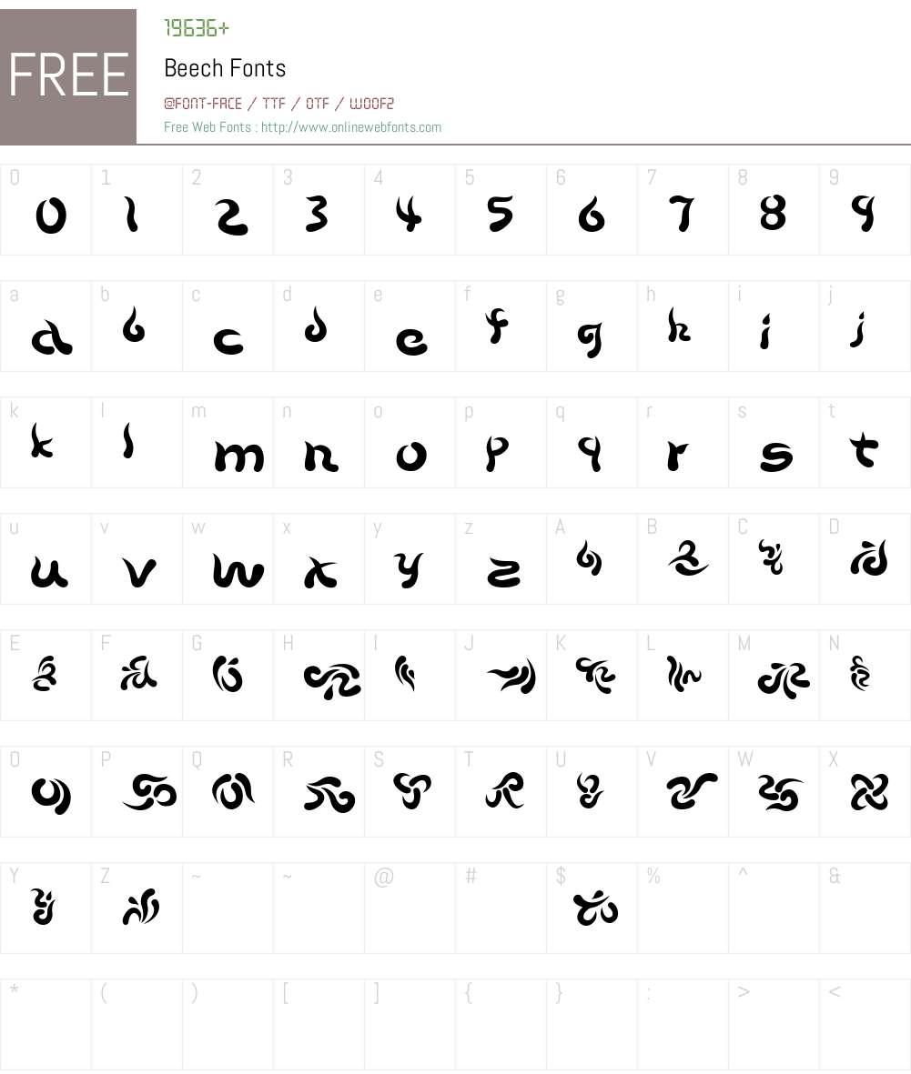 Beech Font Screenshots