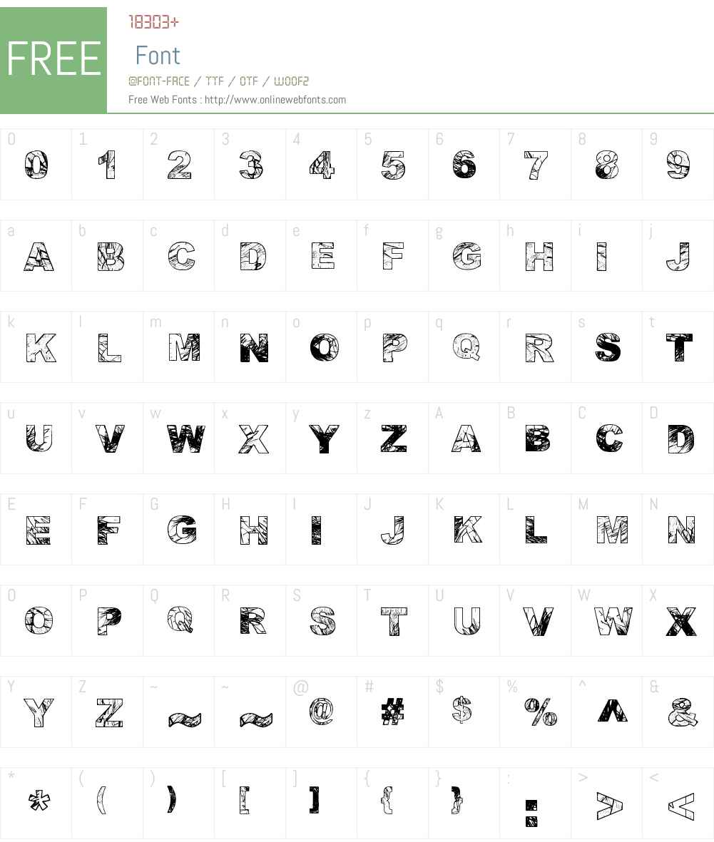 Adieresis, Odieresis & Aring Font Screenshots