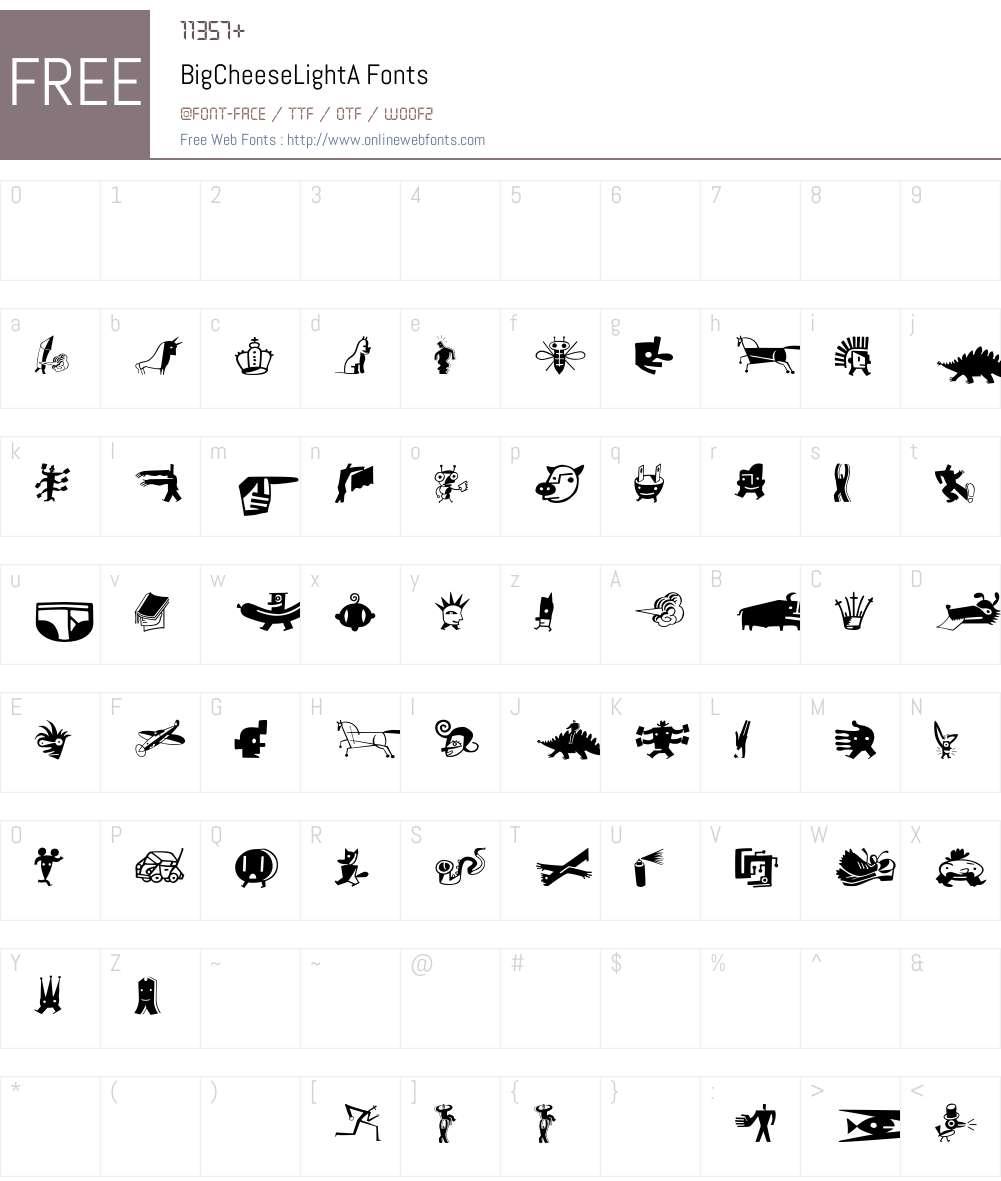 BigCheeseLight Font Screenshots
