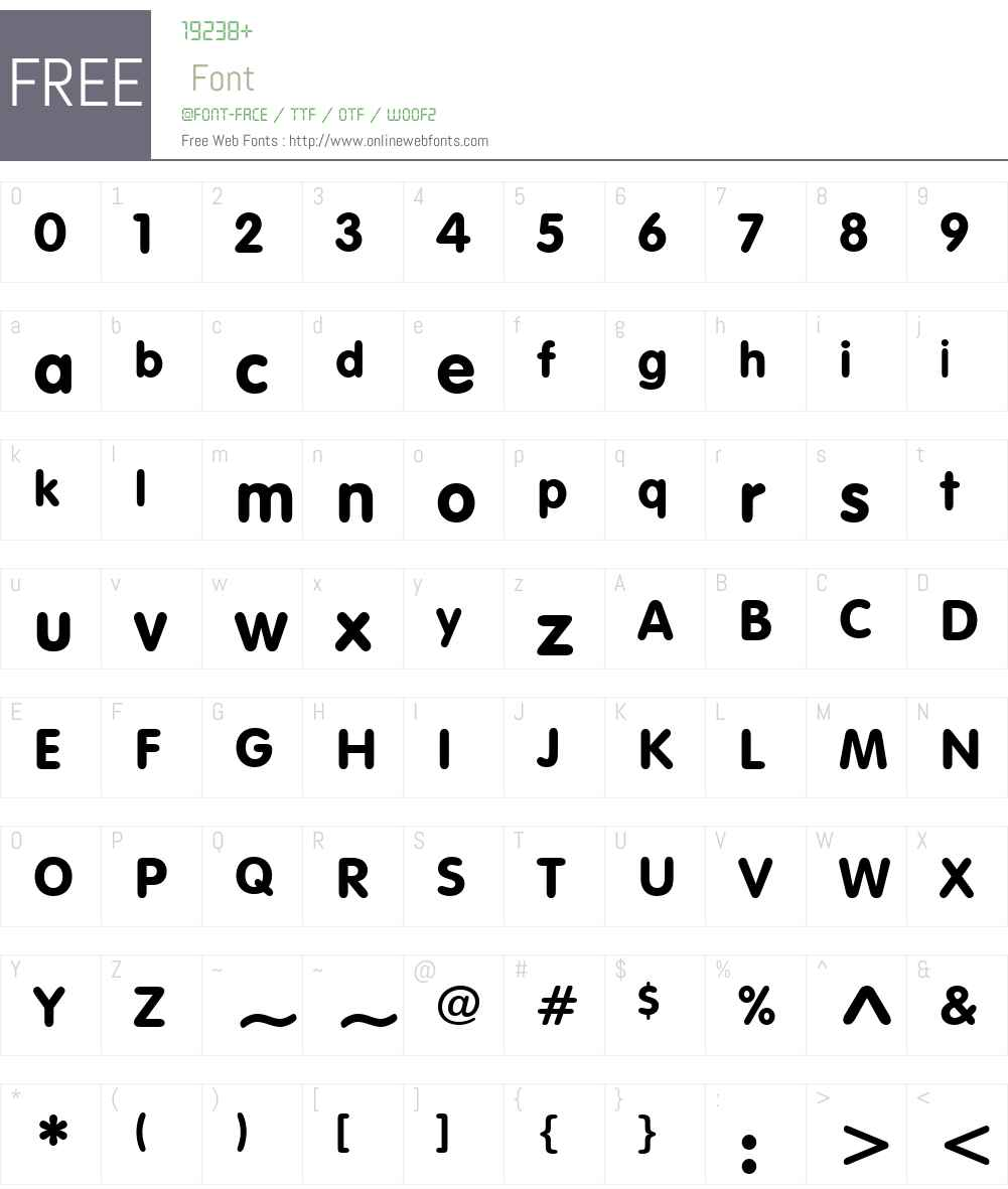 Sans Rounded Font Screenshots