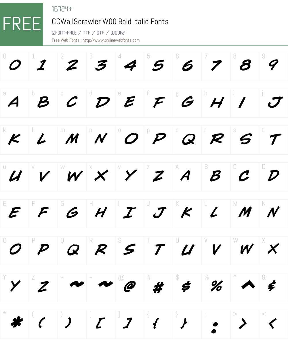 CCWallScrawlerW00-BoldIt Font Screenshots