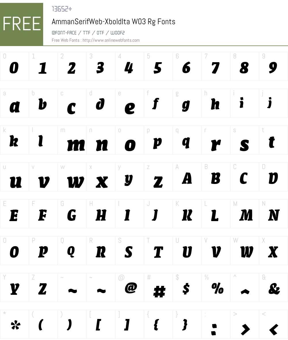 FF Amman Serif Font Screenshots