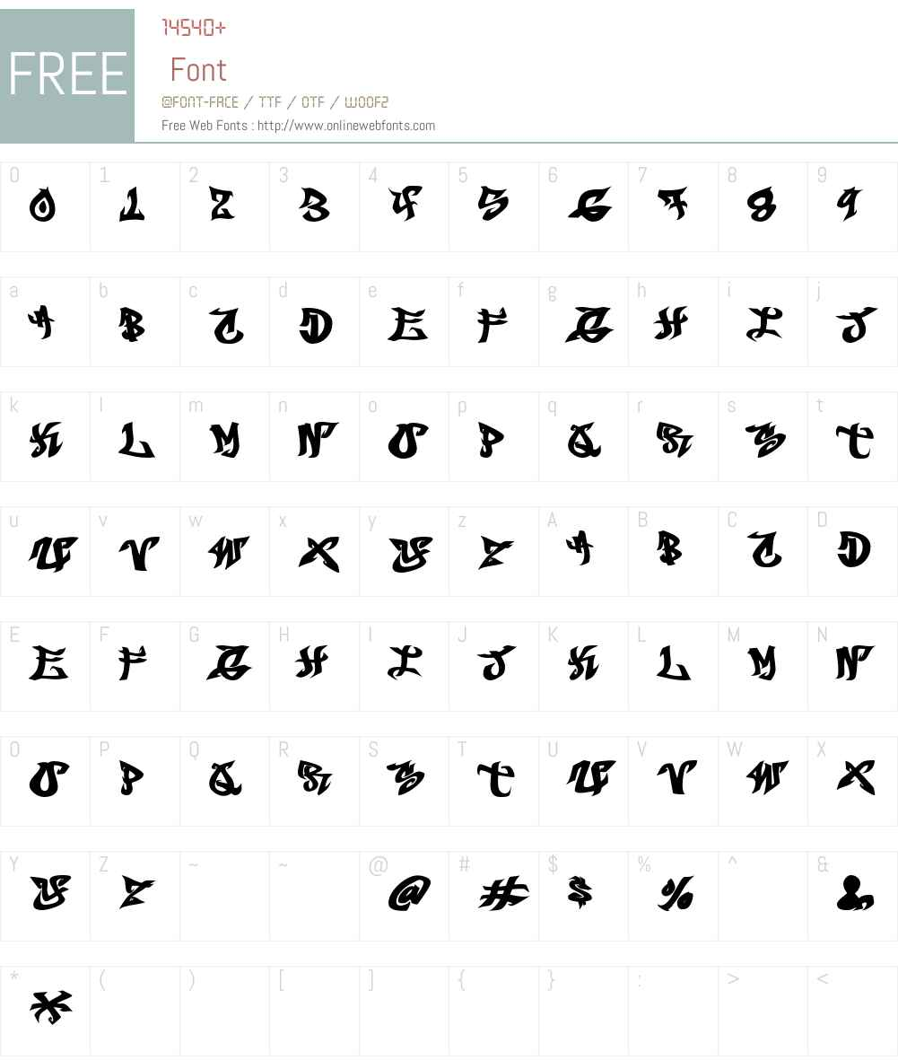 BREAKBEAT Font Screenshots