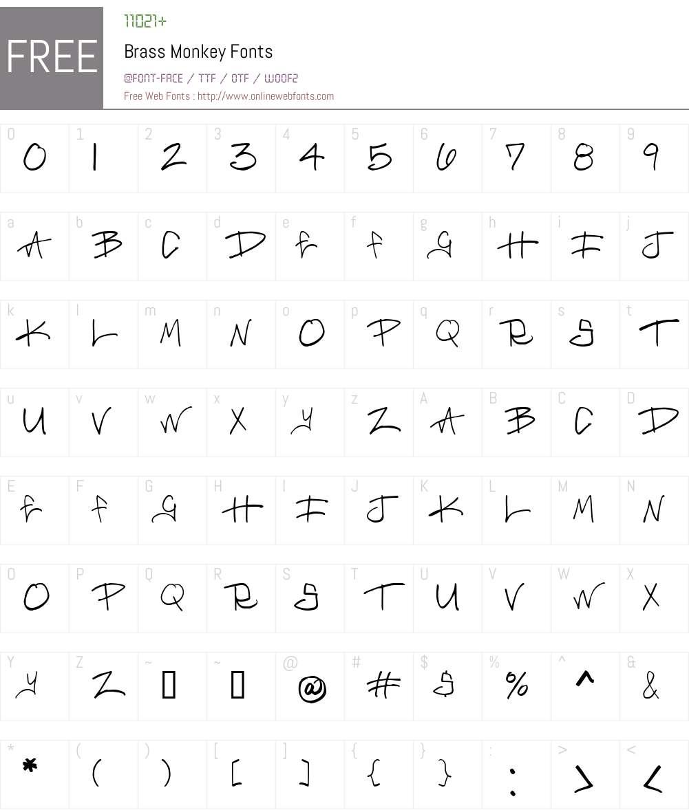 Brass Monkey Font Screenshots