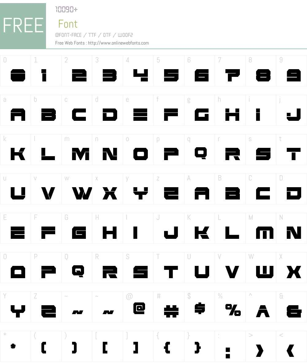 Eridanus Extra-Condensed Font Screenshots