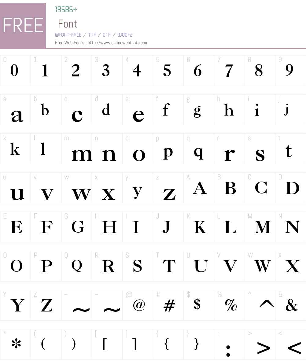 Caslon Bold Font Screenshots