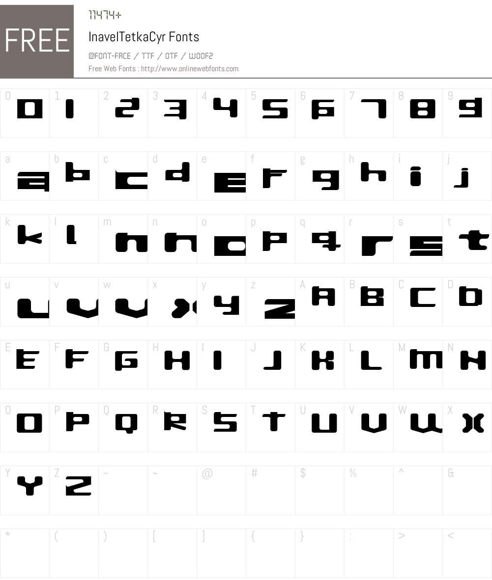 InavelTetka Cyr Font Screenshots