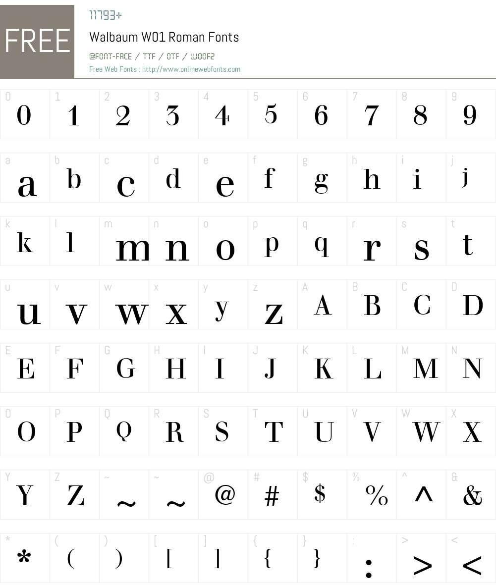 WalbaumW01-Roman Font Screenshots