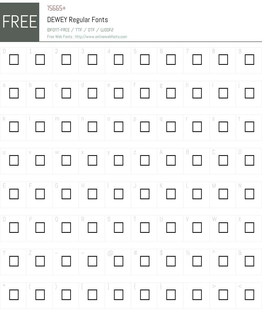 DEWEY Font Screenshots
