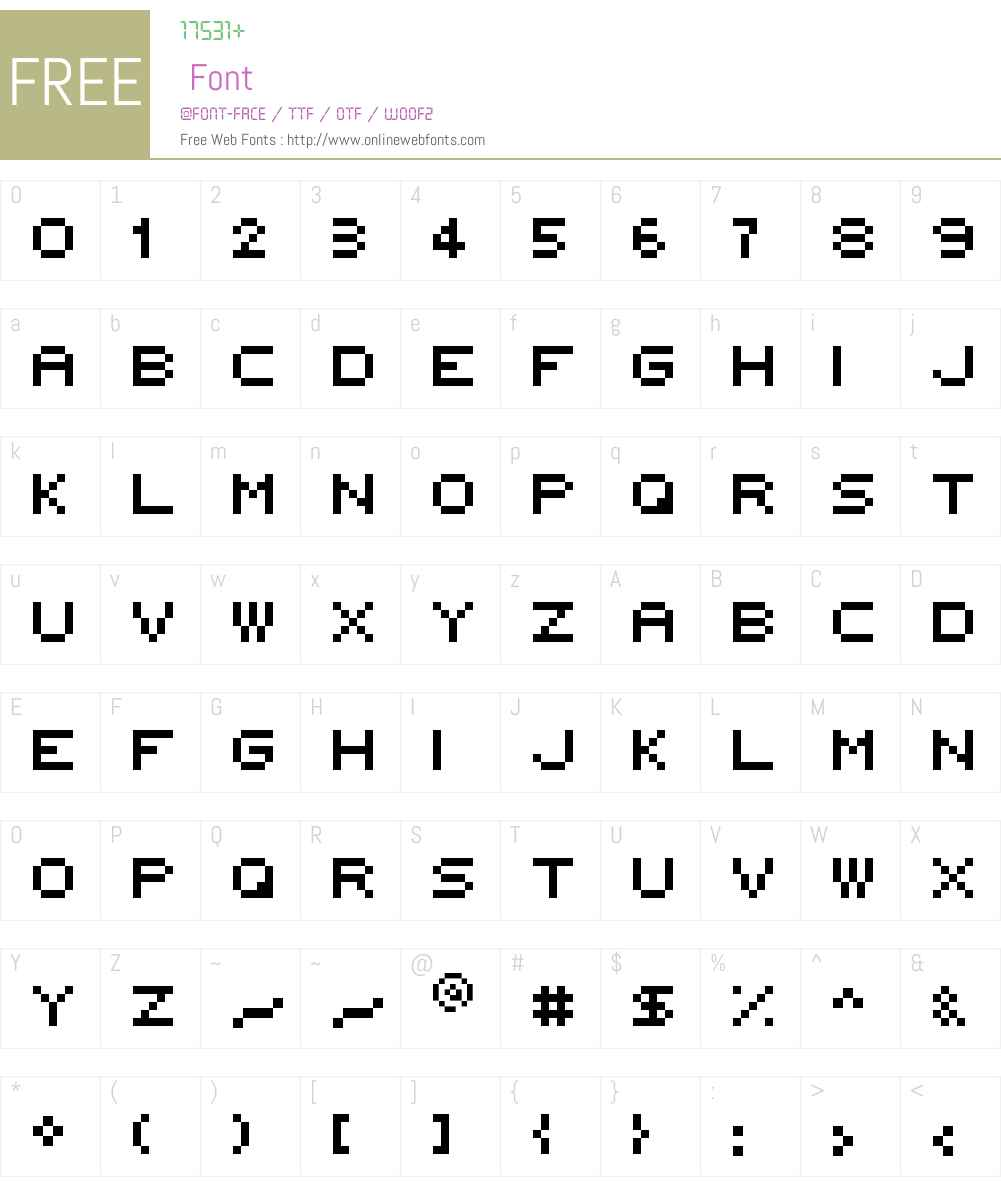 5x5 rounded Font Screenshots