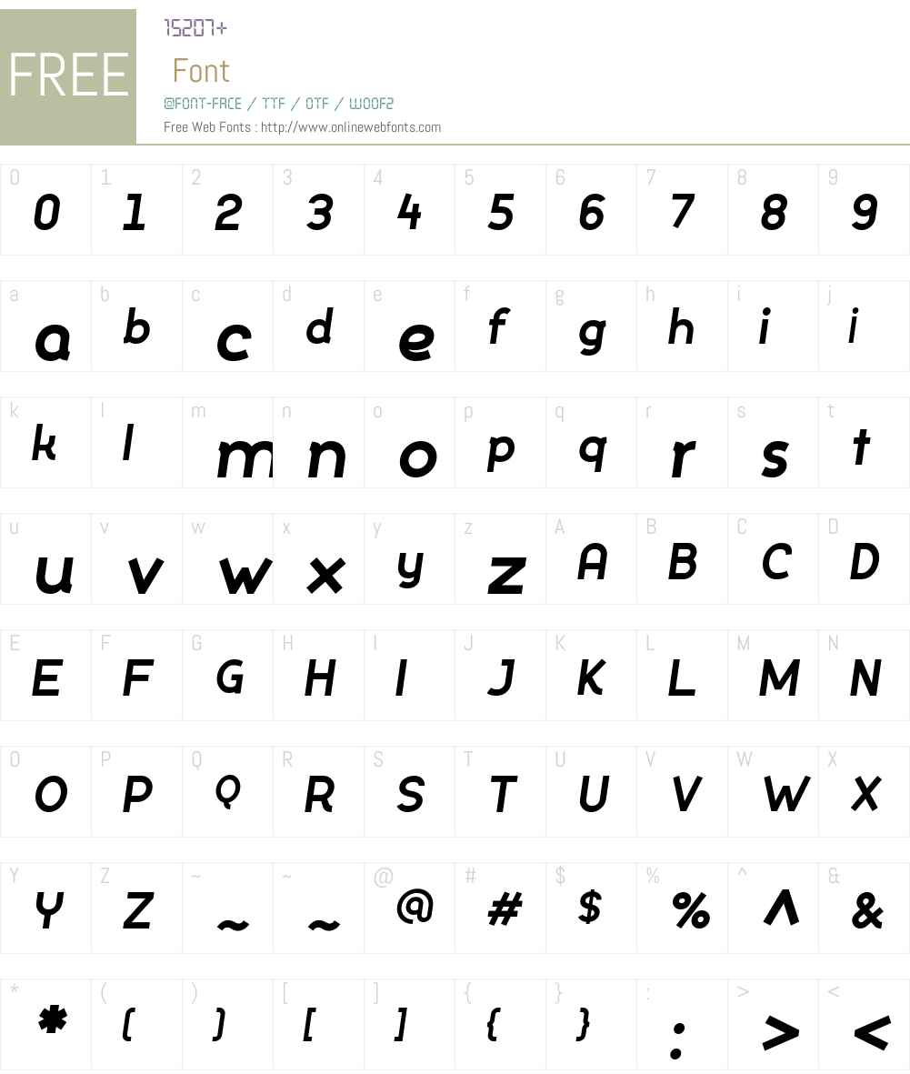 Silo-ExtraBoldItalic Font Screenshots