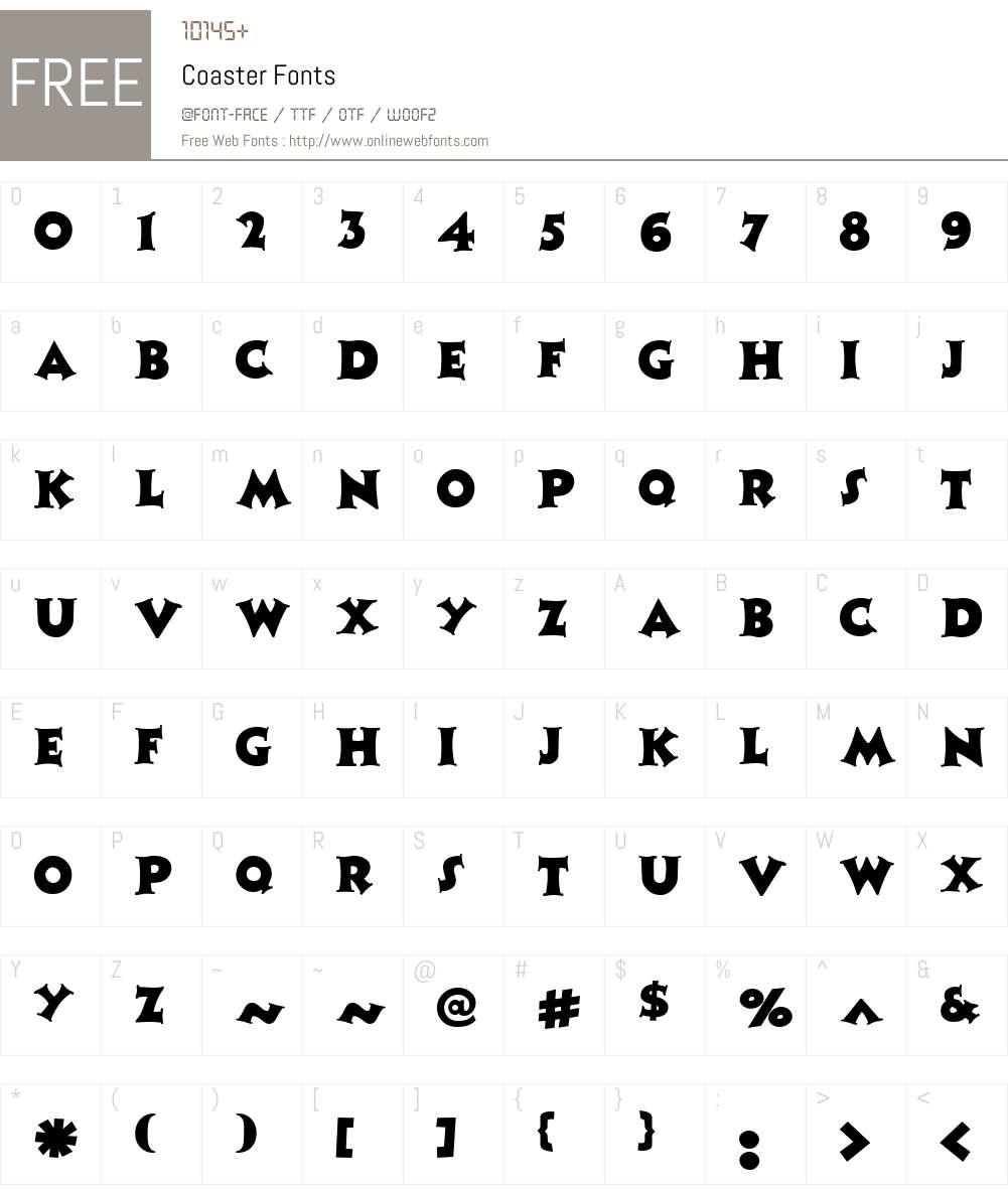 Coaster Font Screenshots