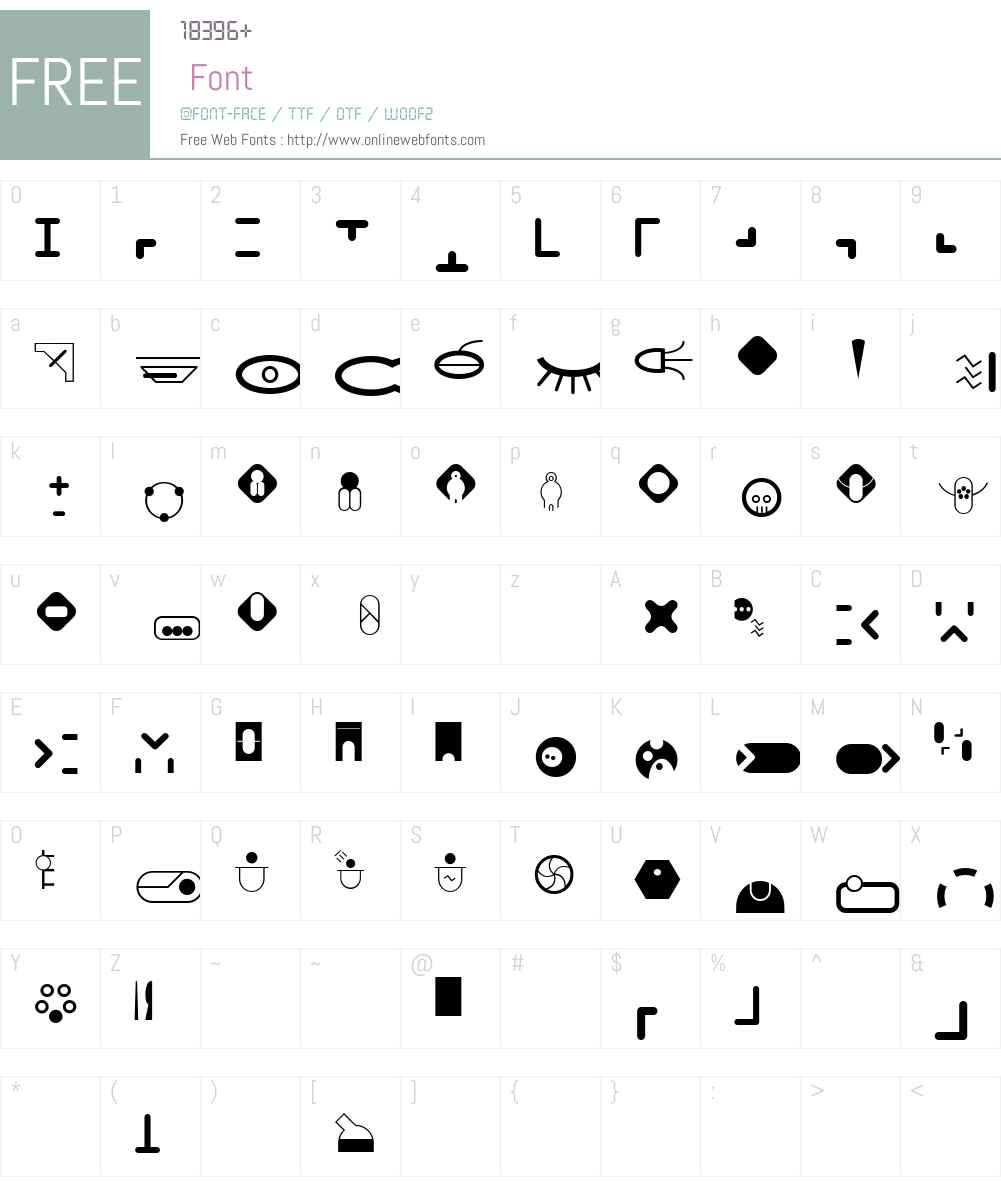 NavtiloVariationsSymbols Font Screenshots