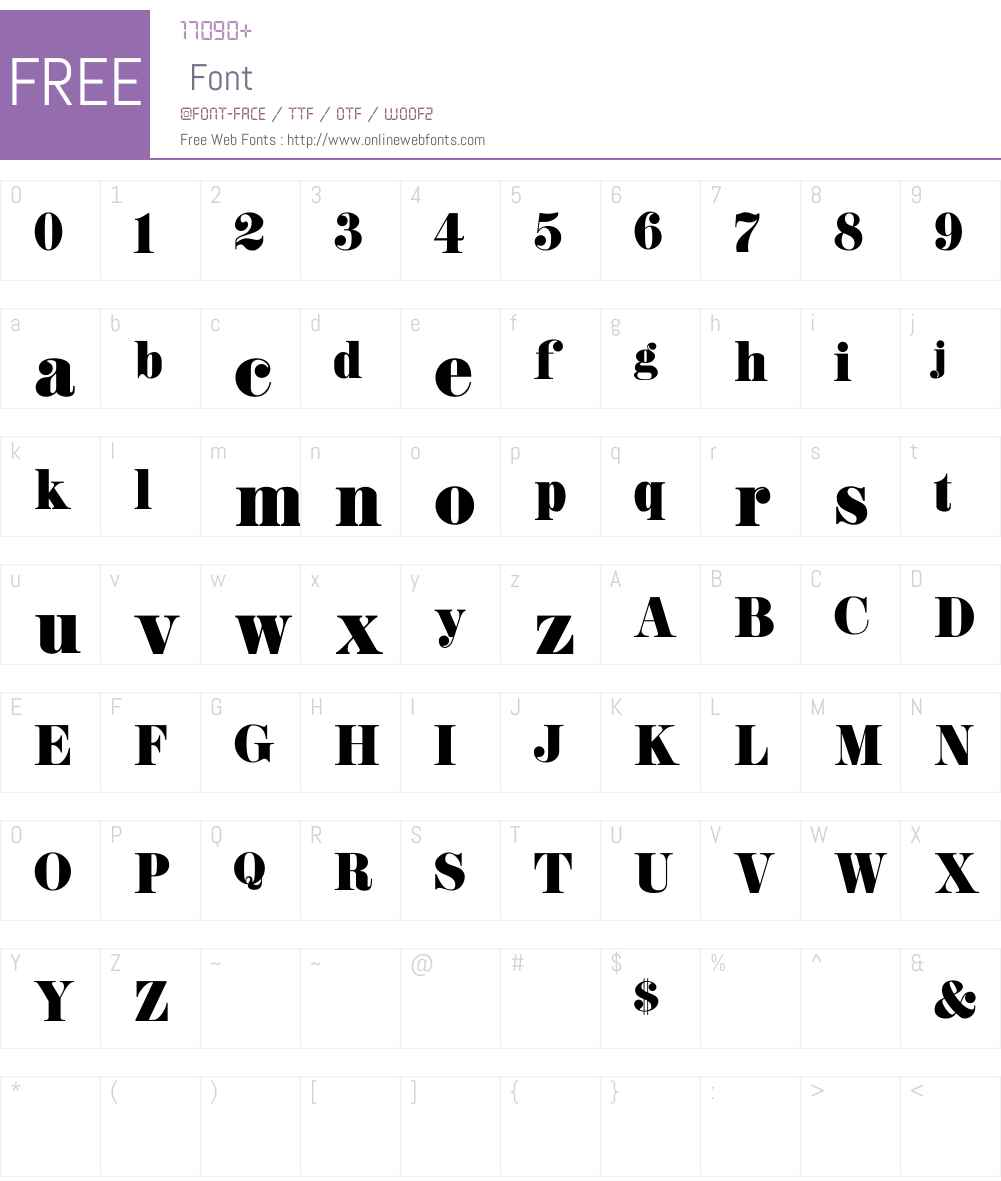 K22 Didoni Font Screenshots