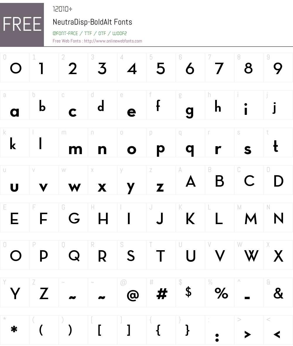 Neutra Display Alt Font Screenshots