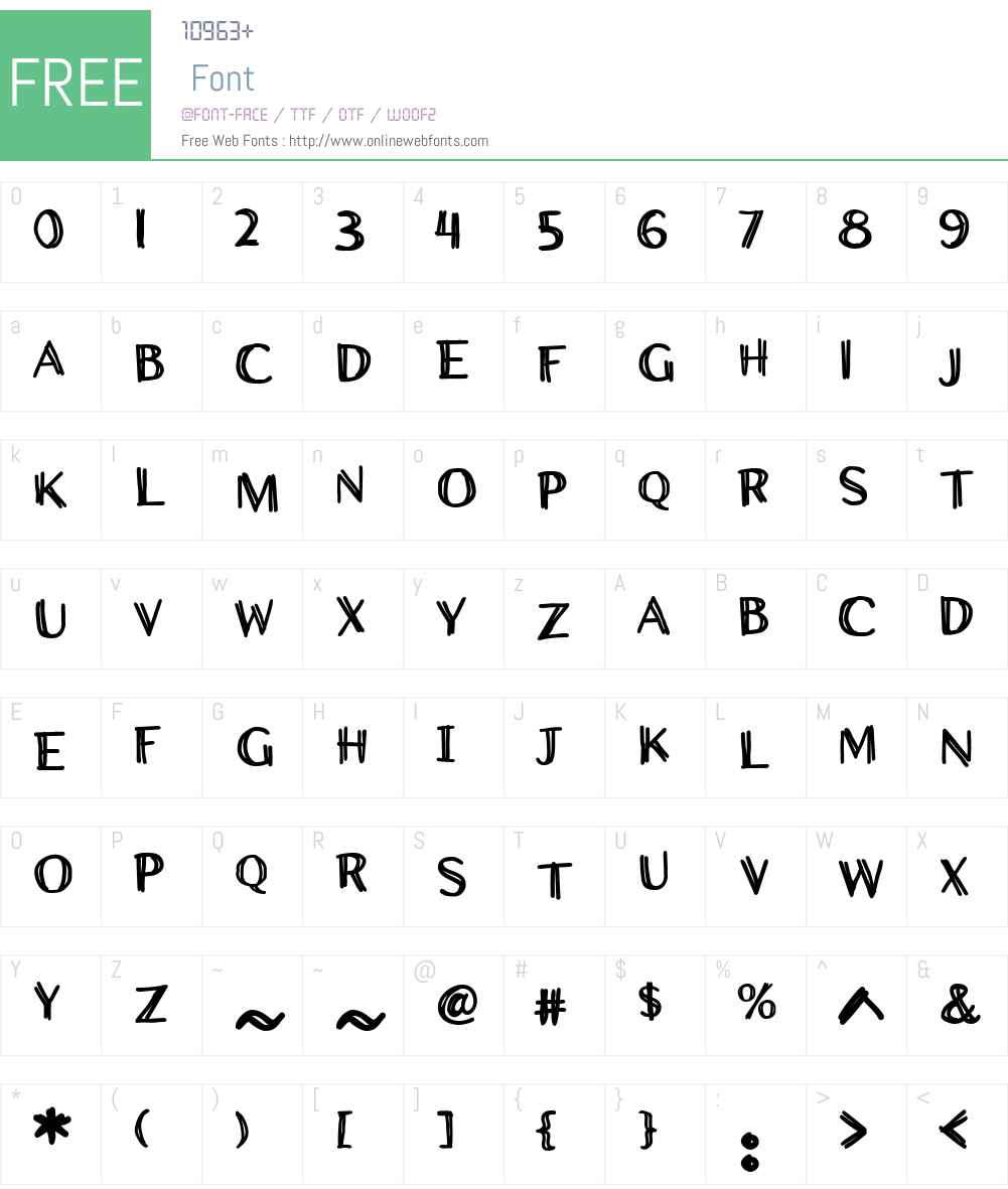 CCWiccanSansW01-Bold Font Screenshots