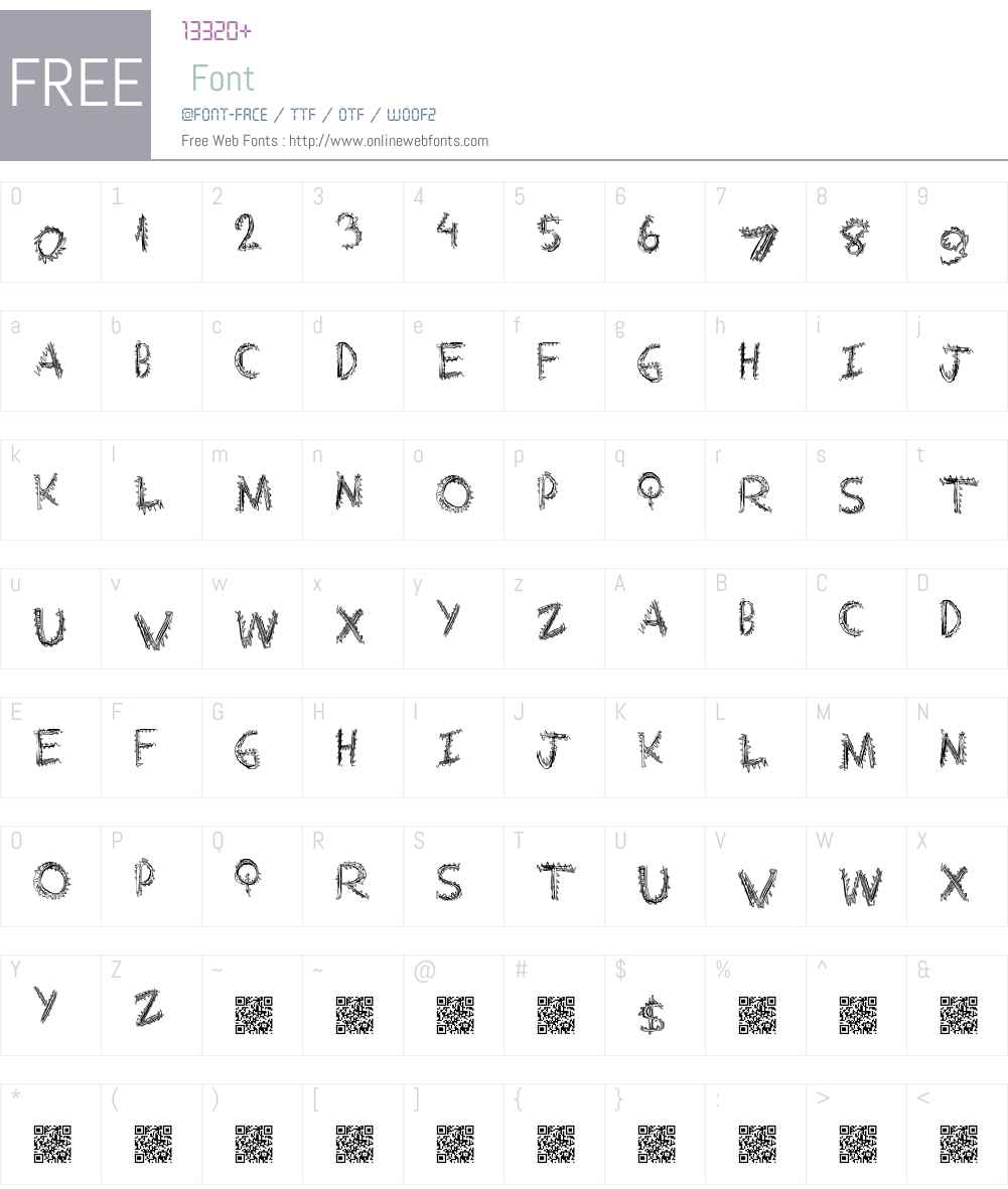 ExtraString Font Screenshots