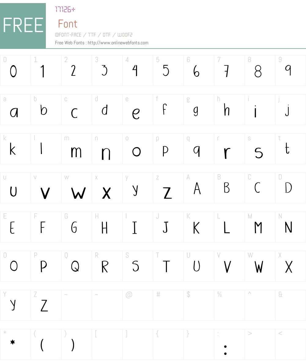 Amanda Font Screenshots