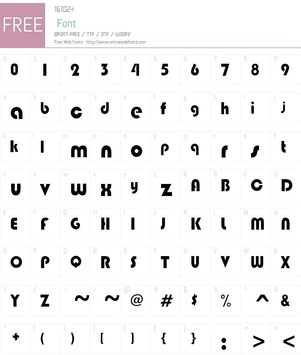 BongoBlack Font Screenshots