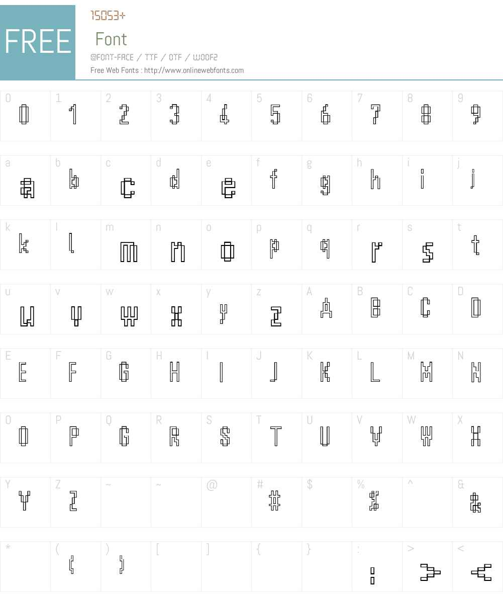 ScreenyOutline Font Screenshots