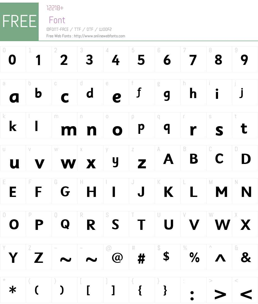 SassoonSansW04-Bold Font Screenshots