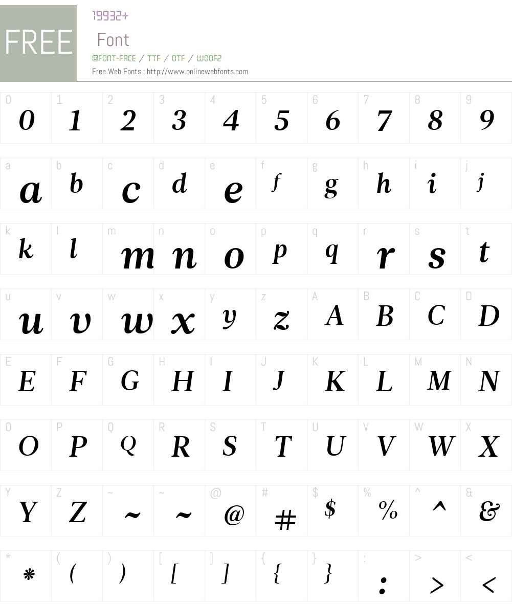LeituraNewsW01-Italic3 Font Screenshots