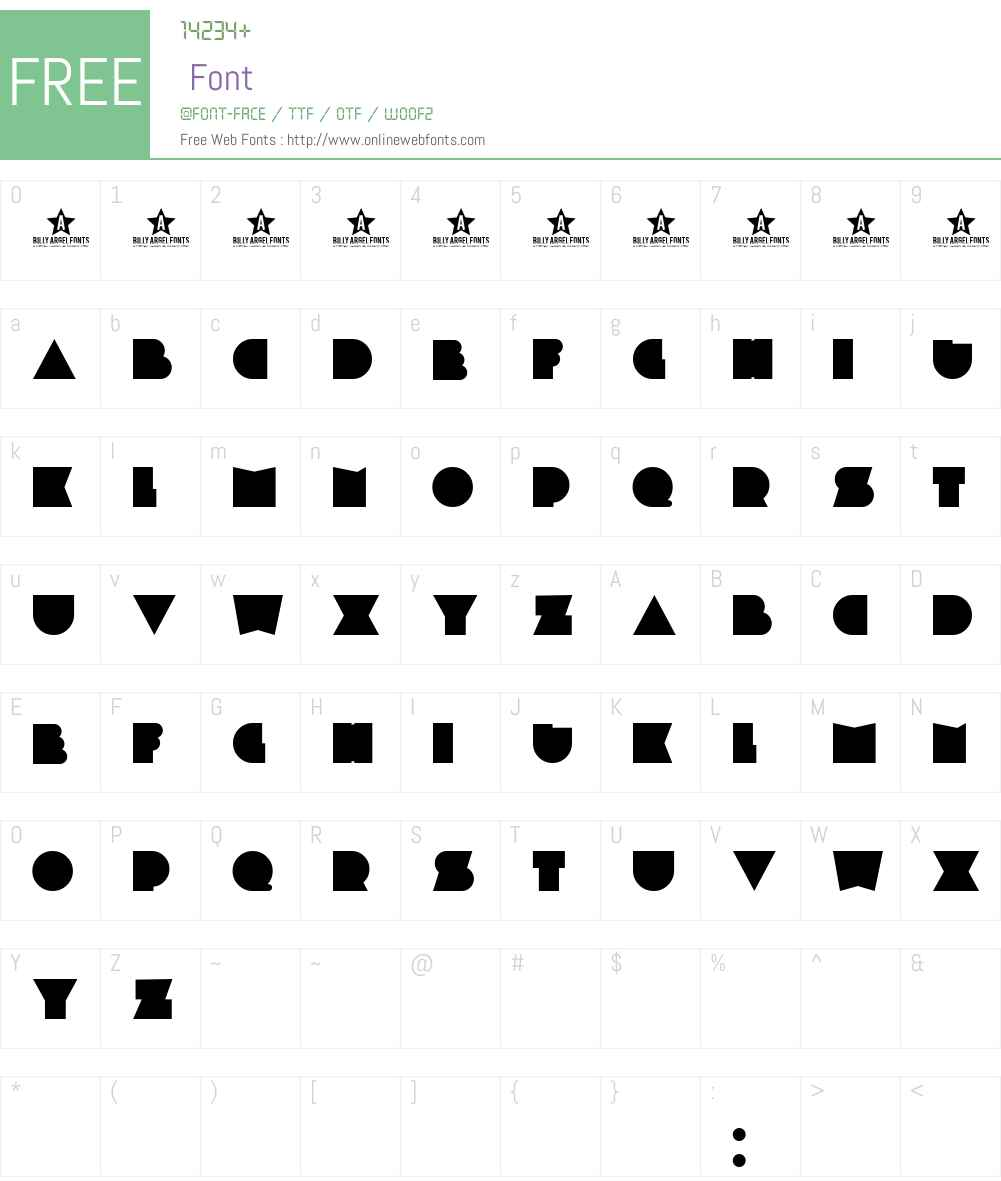 PLASTIC PILL Font Screenshots