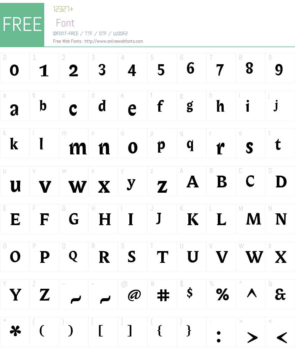 ITCBiblonW01-Bold Font Screenshots