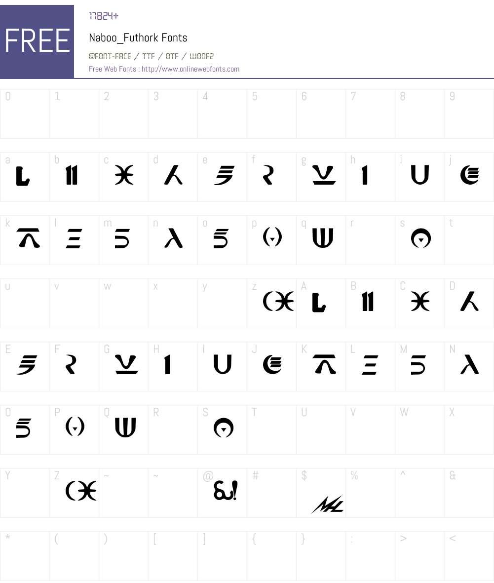 Naboo_Futhork Font Screenshots