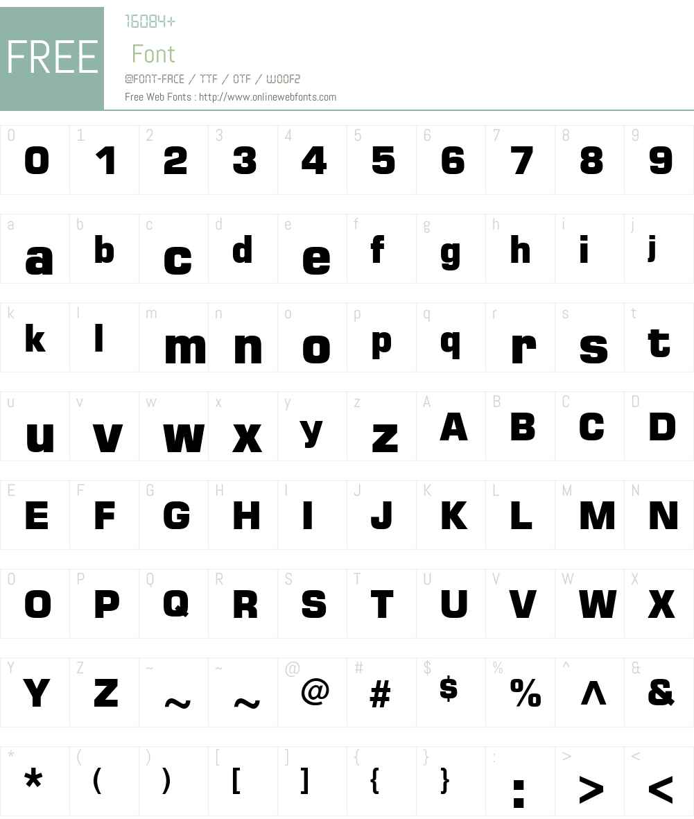 Square721 Blk Font Screenshots