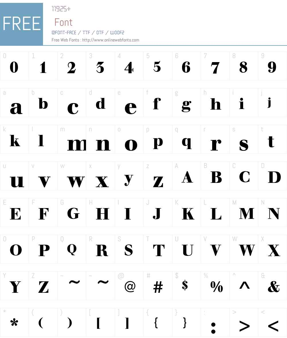 WalbaumEF Font Screenshots