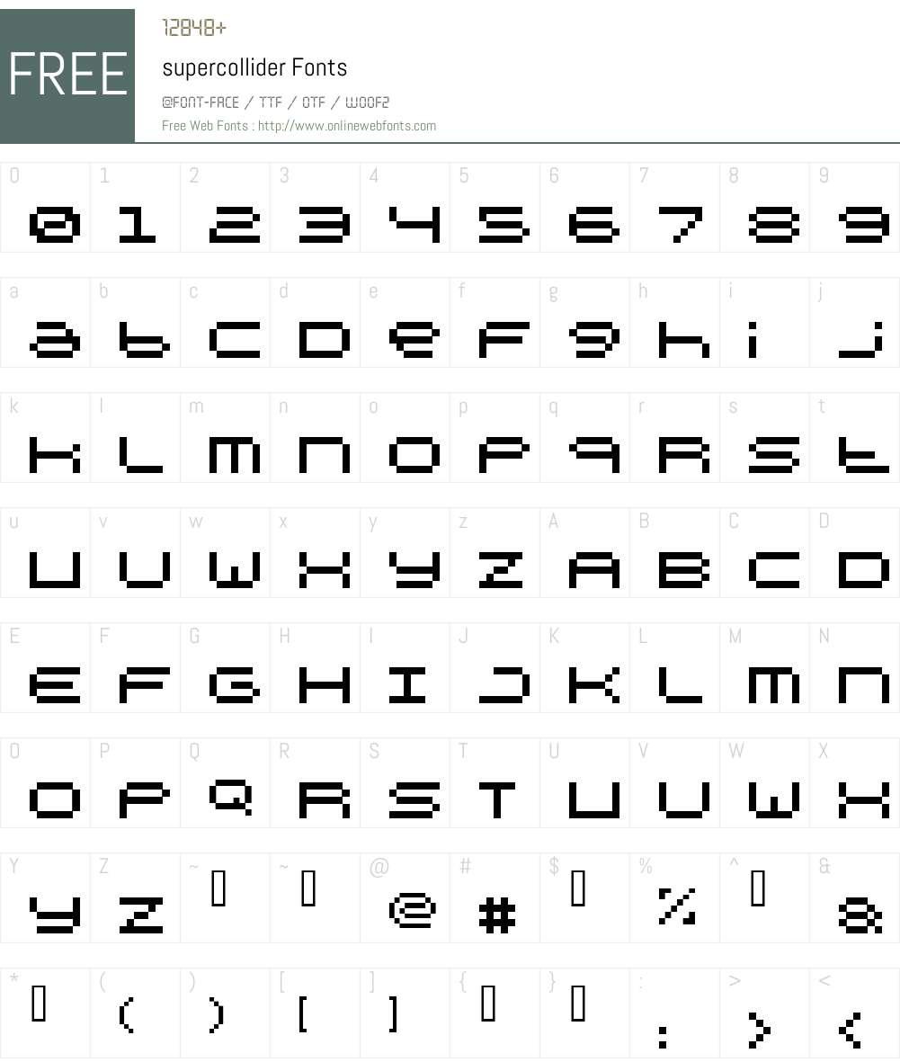 supercollider Font Screenshots