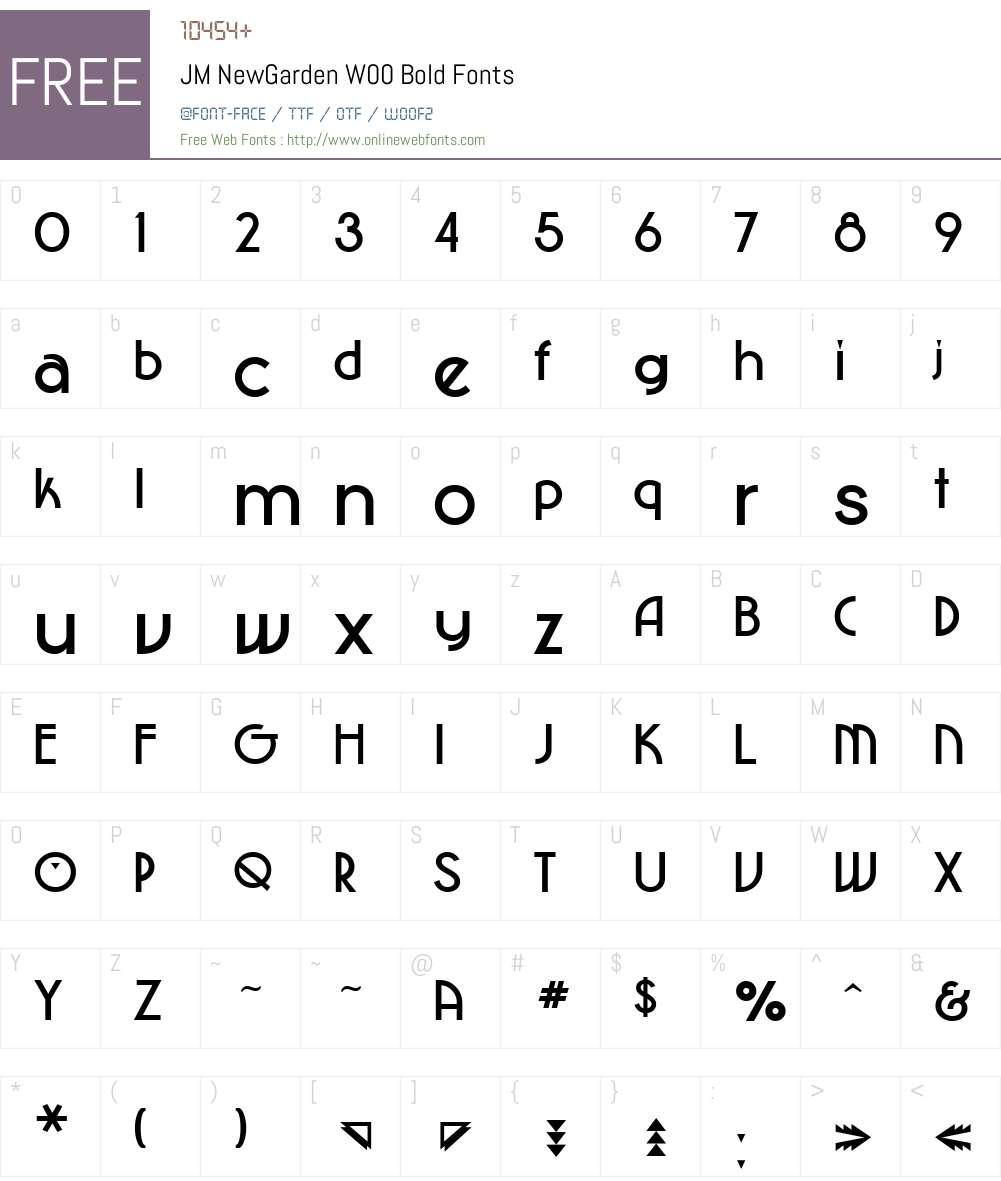 JM NewGarden Font Screenshots