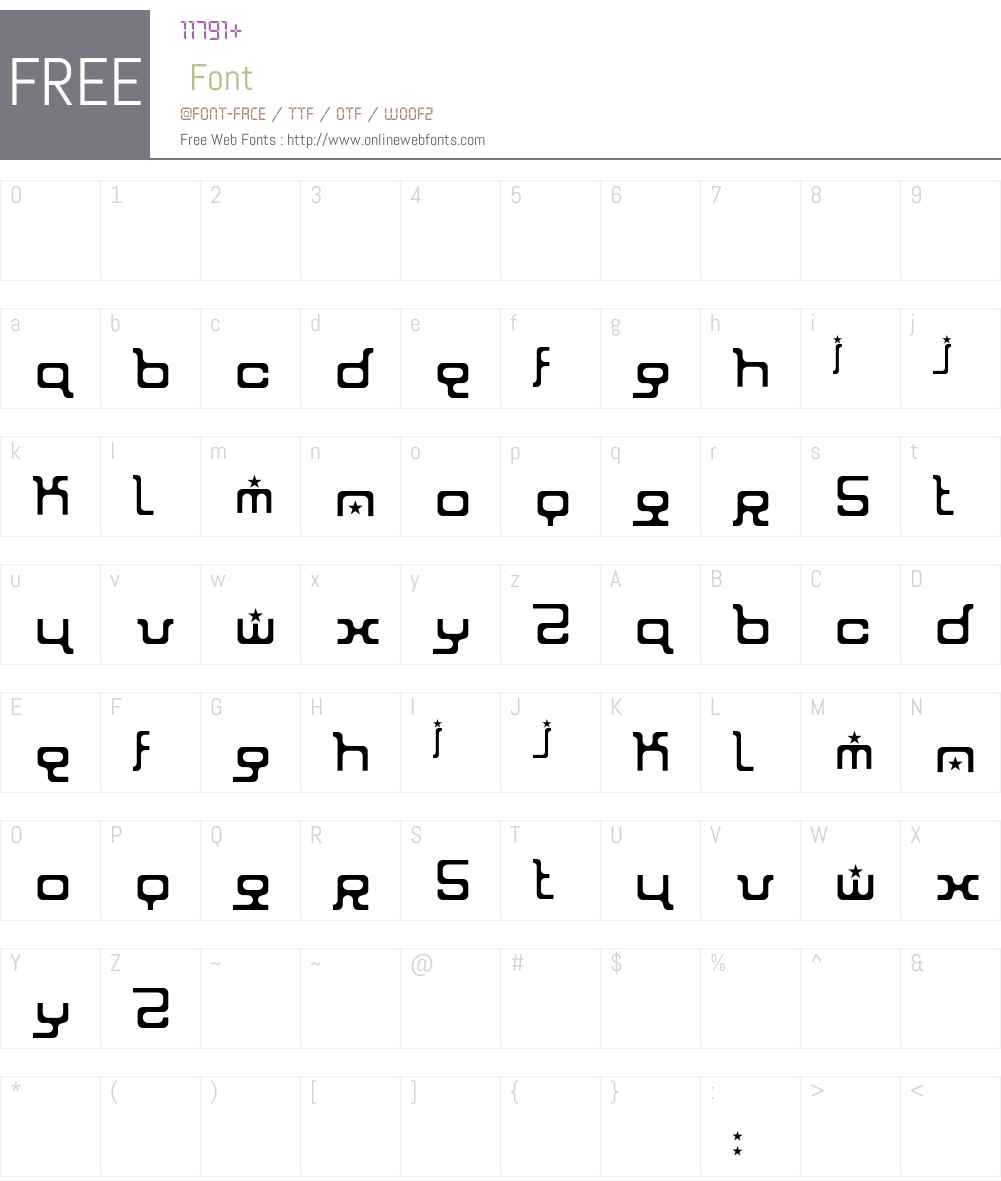 Ioniser Font Screenshots