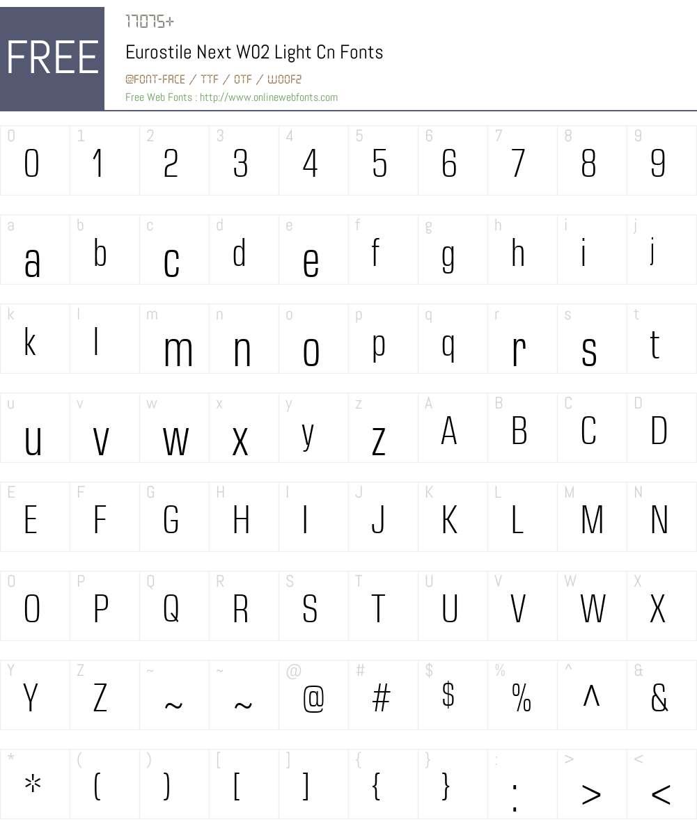 Eurostile Next Font Screenshots