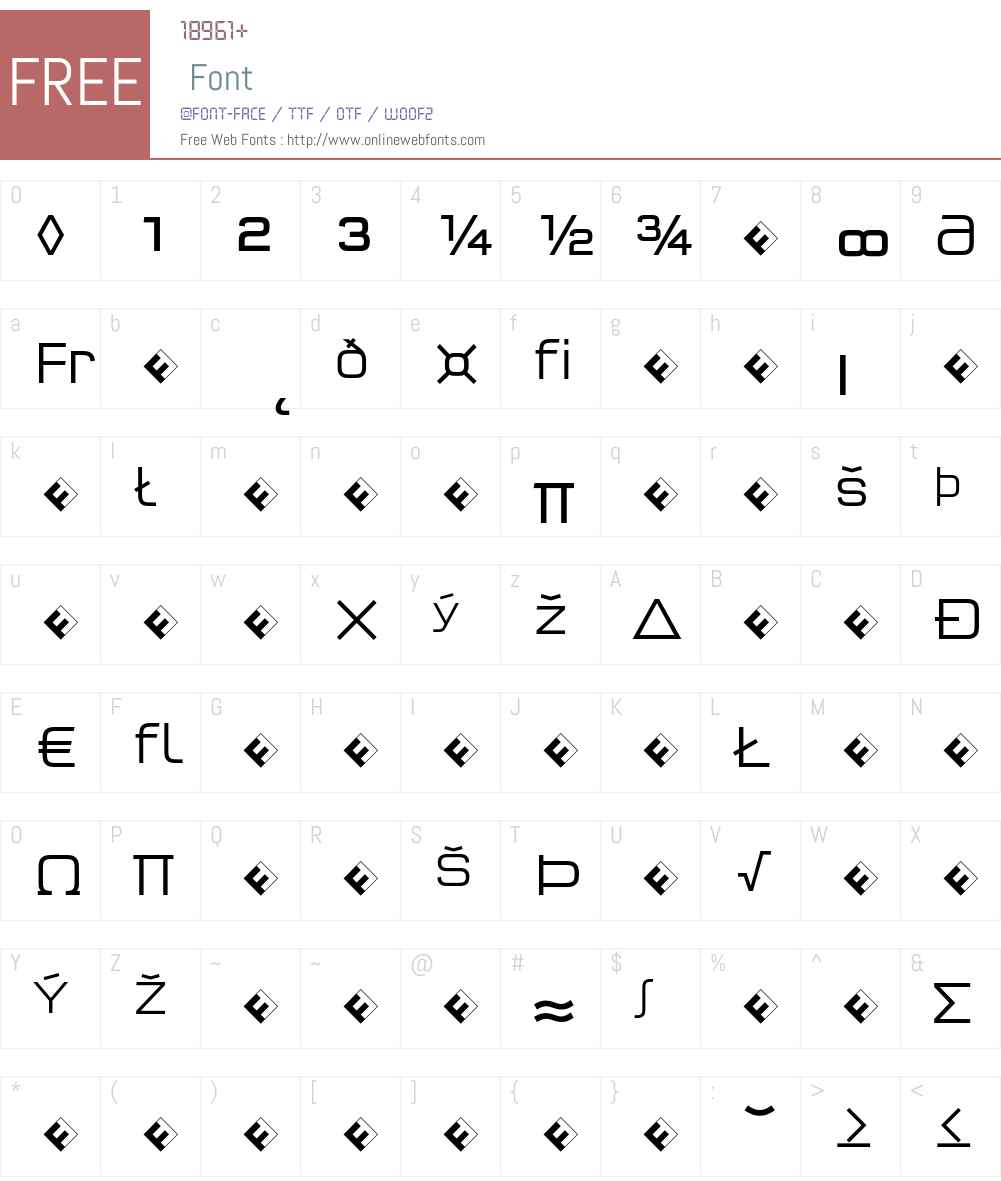 QTypeSquare-LightExpert Font Screenshots